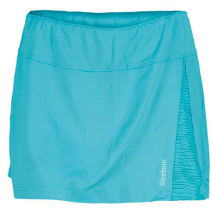 REEBOK WOMENS SE QUEST TENNIS SKIRT SOLID TEAL