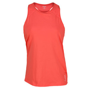 REEBOK WOMENS SE QUEST LONG BRA TOP CORAL