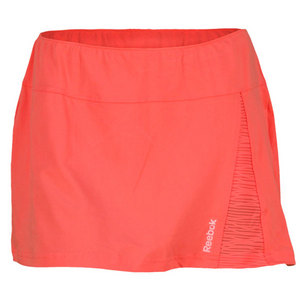 REEBOK WOMENS SE QUEST TENNIS SKIRT CORAL