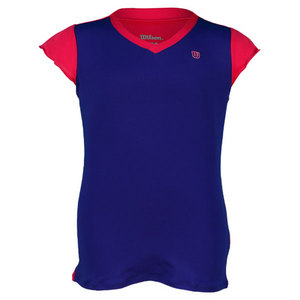 WILSON GIRLS SWEET SUCCESS TENNIS TOP INK/PINK