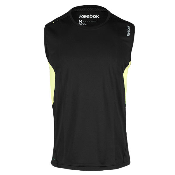 Men's Se Sleeveless Running Top Black/Solar Green