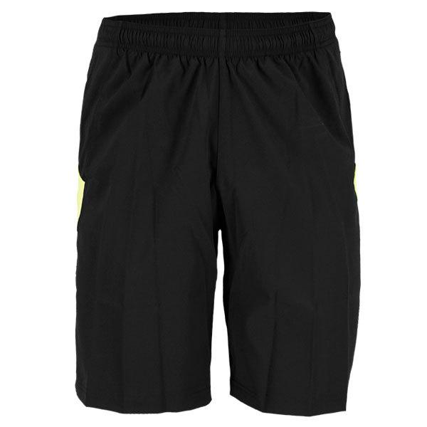 Men's Se 9 Inch Woven Running Short Black/Solar Green