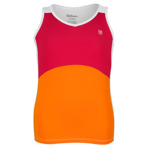 WILSON GIRLS SWEET SUCCESS TENNIS TANK PK/ORANG