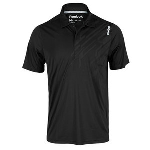 REEBOK MENS SE GRAPHIC SS TENNIS POLO BLACK