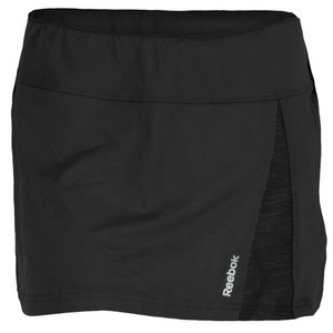 REEBOK WOMENS SE QUEST TENNIS SKIRT BLACK