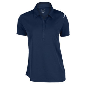 REEBOK WOMENS PLAYDRY VICTORY TENNIS POLO NAVY