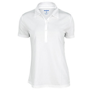 REEBOK WOMENS PLAYDRY VICTORY TENNIS POLO WHITE