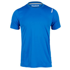 REEBOK MENS SE SHORT SLEEVE TECH TOP BLUE