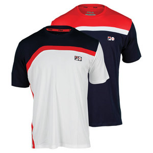 FILA MENS HERITAGE COLORBLOCKED TENNIS CREW