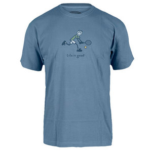 LIFE IS GOOD MENS TWO HAND BACKHAND TEE SHADOW
