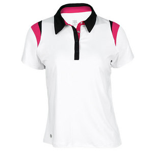 TAIL WOMENS SWEET SPOT ACCENT POLO WHITE