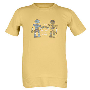 LIFE IS GOOD BOYS TWO COOL ROBOTS TEE SUMMER GOLD