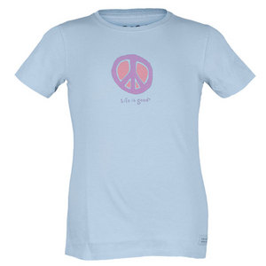 Girl`s Elemental Peace Crusher Tee Sky