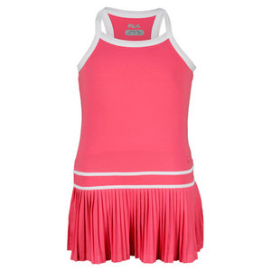 FILA GIRLS MATCH TENNIS DRESS PINK