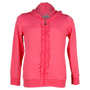 FILA GIRLS NET HOODED TENNIS JACKET PINK