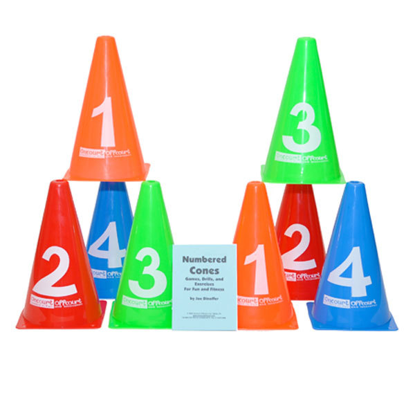 Numbered Tennis Cones 8 Pack