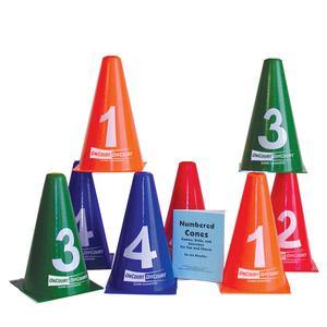 Numbered Tennis Cones 8 Pack
