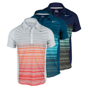 NIKE MENS ADVANTAGE UV STRIPE TENNIS POLO