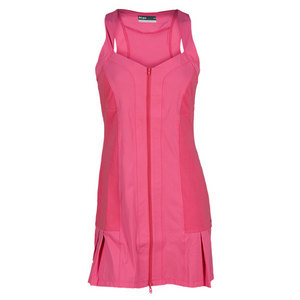 LIJA WOMENS ZIP TENNIS DRESS GLAM