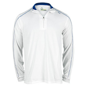 TASC MENS CORE 1/4 ZIP PERFORMANCE JACKET WHT