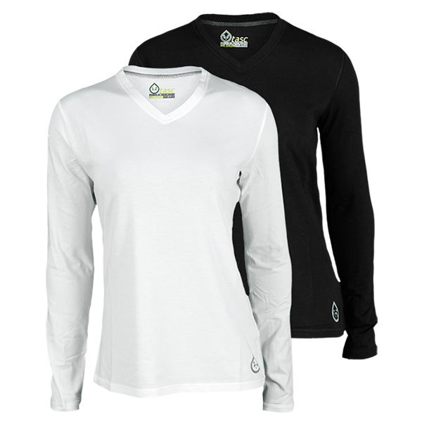 Women's Core Long Sleeve V Neck Perfomance Tennis Top