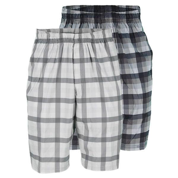 Men's 10 Inch Plaid Woven Tennis Short