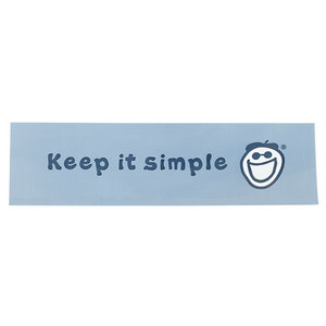 LIFE IS GOOD KEEP IT SIMPLE BUMPER STICKER