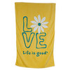 Daisy Love Bath Towel Sunny Yellow by LIFE IS GOOD