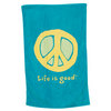Elemental Peace Bath Towel Aqua Blue by LIFE IS GOOD