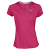 NIKE Women`s Novelty Knit Tennis Top Pink