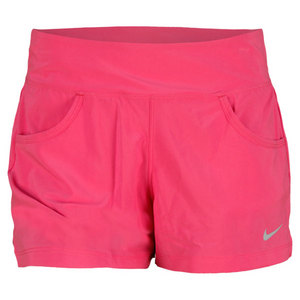 NIKE WOMENS VICTORY TENNIS SHORT PINK FORCE