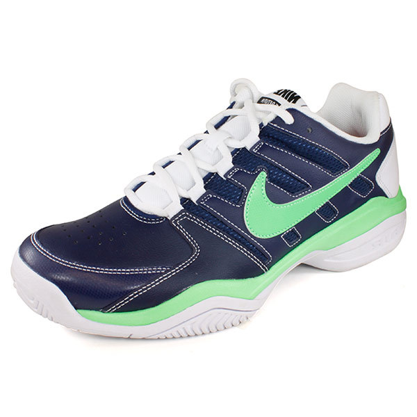 Men's Air Serve Return Tennis Shoes Navy And Green