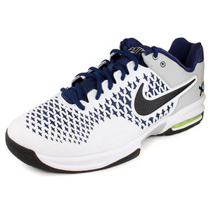 NIKE MENS AIR MAX CAGE TENNIS SHOES NAVY/WH