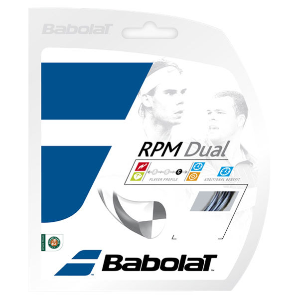 Rpm Dual 17g Tennis String Gray/Black
