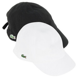 LACOSTE WOMENS PIQUE TIE BACK TENNIS CAP
