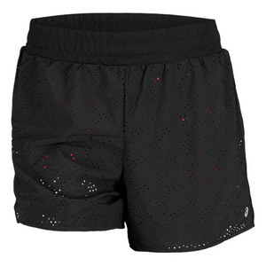 ASICS WOMENS PERFORMANCE FUN 2-N-1 SHORTS BLK
