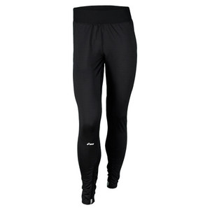 ASICS WOMENS STRAIGHT SET TENNIS PANTS BLACK