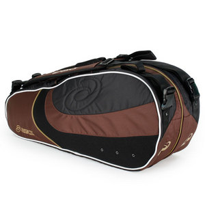 ASICS SIX PACK TENNIS BAG BLACK/BROWN
