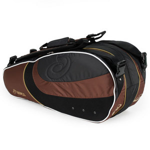 ASICS NINE PACK TENNIS BAG BROWN/BLACK