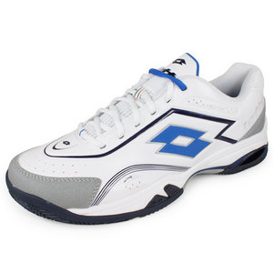 LOTTO MENS VECTOR V TENNIS SHOES WHITE/BLUE