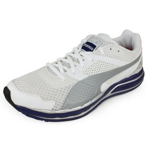 PUMA MENS FAAS 800 S SPORT SHOES WHITE/SILVER