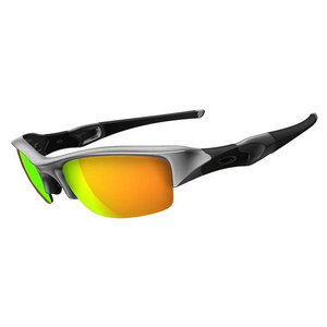 OAKLEY FLAK JACKET SILVER/FIRE IRIDIUM SUNGLASS