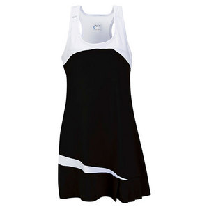Women`s Fire Tennis Dress Black