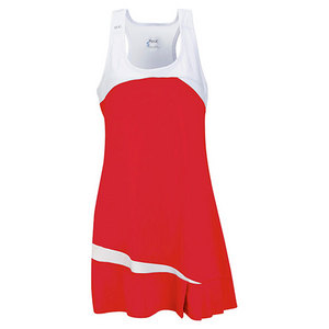 Women`s Fire Tennis Dress Red