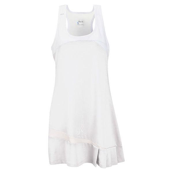 Women's Fire Tennis Dress White