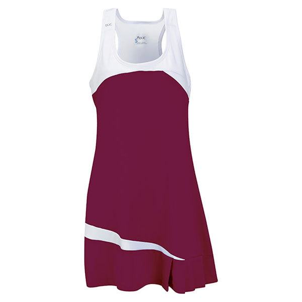 Women's Fire Tennis Dress Maroon