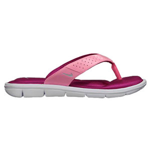 NIKE WOMENS COMFORT THONG POLARIZED PINK/WH