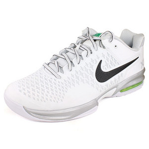 NIKE MENS AIR MAX CAGE SHOES PLATINUM/WHITE