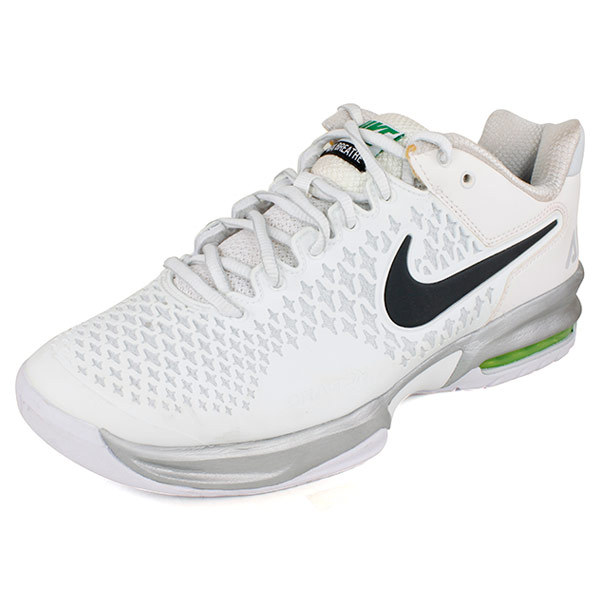 nike s air max cage tennis shoes white and silver