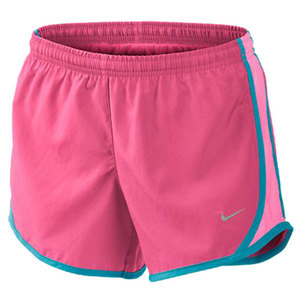 NIKE GIRLS TEMPO RUNNING SHORT PINK/NEO TURQ
